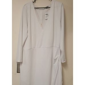 3xl - Charlotte Russe - Long Sleeve White Dress